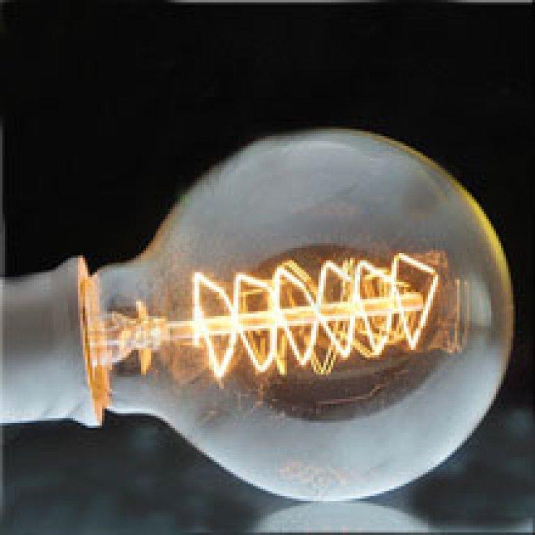 60W Glop Oval Flamanlı Rustik Ampül